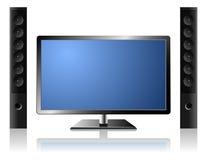 Televisie met audiosysteem Royalty-vrije Stock Foto's