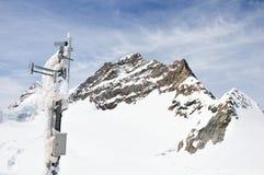 Televisie met gesloten circuit op Jungfrau, berg Stock Foto