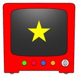 Televisie Viêt Nam royalty-vrije illustratie