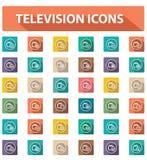 Televisiepictogrammen, Uitstekende stijl Royalty-vrije Stock Foto's