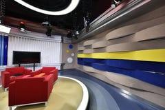 Televisiestudio stock afbeelding