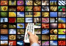 Televisión de Digitaces Imagenes de archivo