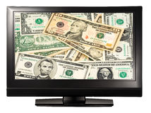 Televisión del dinero Imagenes de archivo