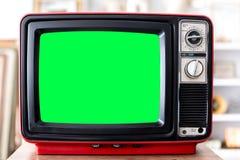 Televisión del rojo del vintage Imagenes de archivo