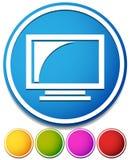 监控图标 计算机显示器的屏幕、显示或televisio 免版税库存图片