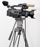 Television. Camcorder on a tripod stock photography