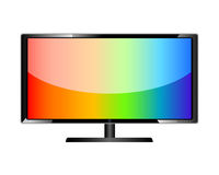 Television. LCD TV screen. LCD flat television Royalty Free Stock Images
