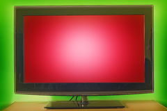 Television. LCD television with red screen Royalty Free Stock Photos