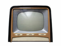Television_2. Vintage television apparatus from 1950 Stock Photos