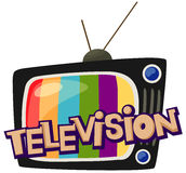 Television. Illustration of isolated letter of television  on white background Stock Photos