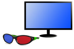 Television 3 D Stock Photo