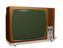 Television. Computer image, television retro 3D, isolated white background Royalty Free Stock Photography
