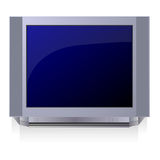 Television. One plasma television on a white background Royalty Free Stock Images