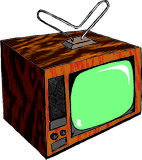 Television. Illustration of a tv set Royalty Free Stock Photography