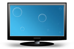 Television. LCD TV / Monitor with Clipping Paths vector illustration