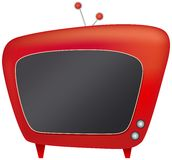 Television. Illustration of a red television on white background Stock Images