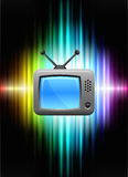 Television on Abstract Spectrum Background. 