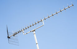Television Aerial On Blue Sky Royalty Free Stock Image