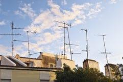 Television aerials Stock Photo
