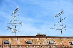 Television aerials Royalty Free Stock Photography