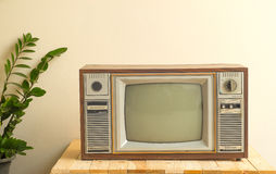 Television ancient in Royalty Free Stock Photo