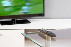 Television And Remote Control. Stock Photo
