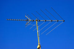 Television Antenna. With the blue sky behind it Royalty Free Stock Photos