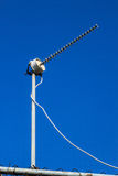 Television antenna toward Royalty Free Stock Photos