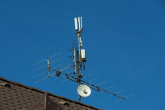 Television antenna and wi-fi transmitter Stock Photography