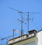 Television antennas Stock Image
