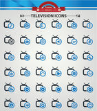 Television,Applicat ion icons,Blue version.  Royalty Free Stock Image