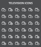 Television,Applicat ion icons,vector. Television,Applicat ion icons, dark background,vector Royalty Free Stock Image