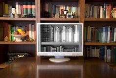 Television and books stock photos