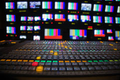 Television Broadcast Gallery Stock Image