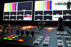 Television Broadcast Room. HD broadcast television control room Stock Image