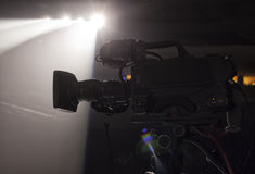 Television broadcast from the theater. Professional digital video camera. Stock Image