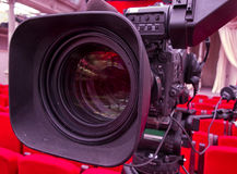 Television broadcast from the theater. Professional digital video camera. Stock Photo