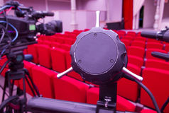 Television broadcast from the theater. Professional digital video camera. Stock Photos