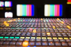Television Broadcast Vision Control Panel Royalty Free Stock Images