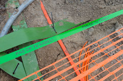 Television cable in ground Stock Photography