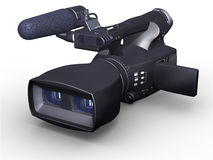 Television camcorder 3D dual-lensed Royalty Free Stock Photography
