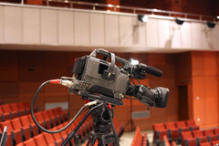 Television camcorder. In an empty conference room during the break royalty free stock images