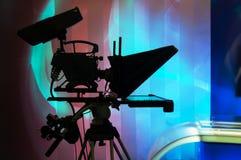 Television Camera. TV professional digital video camera - for TV production Stock Photos