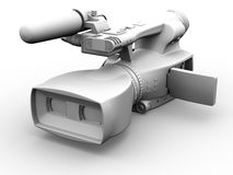 Television Camera 3D dual-lensed Royalty Free Stock Image