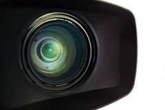 Television Camera Lens Close-up Stock Image