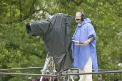 Television cameraman Stock Photo
