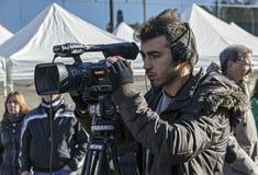 Television cameraman Royalty Free Stock Photography