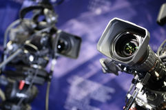 Television cameras. Stock Image