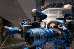 Television cameras in studio. Stock Photography