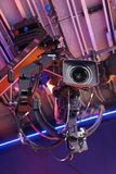 Television cameras in TV studio Stock Photo